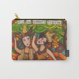 Let's be different together Carry-All Pouch