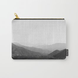 Black and white Atlas Mountains of Ourika Morocco Carry-All Pouch