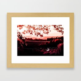 idyllic nature landscape va2s Framed Art Print