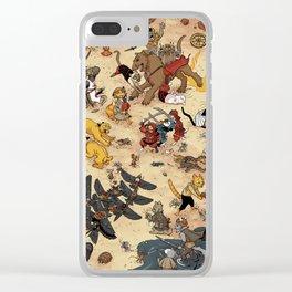 CAT VS MICE Clear iPhone Case