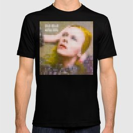 Bowie : Hunky Dory Pixel Album Cover T-shirt