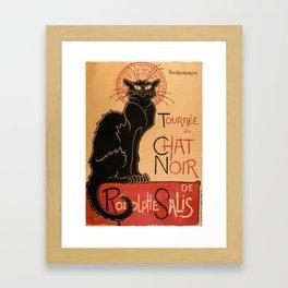 Tournée du Chat Noir 1896 de Rodolphe Salis by Théophile Steinlen (Tour of Rodolphe Salis' Chat Noir Framed Art Print