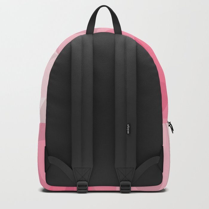 Pink Polygon Backpack