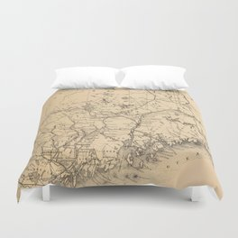 Vintage Map of Maine (1894) Duvet Cover