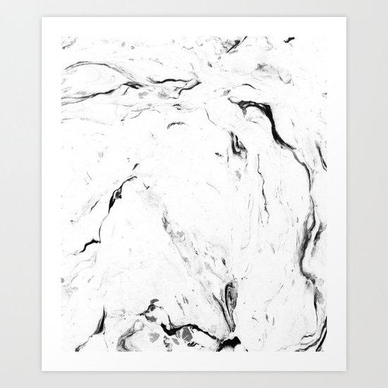 White Marble #society6 #decor #buyart Art Print