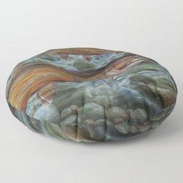 Steelhead Trout Migration in Fall Floor Pillow