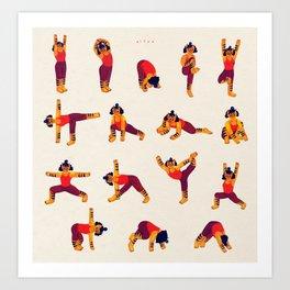 Yoga Tiger Art Print