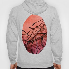Doodled Autumn Feather 01 Hoody