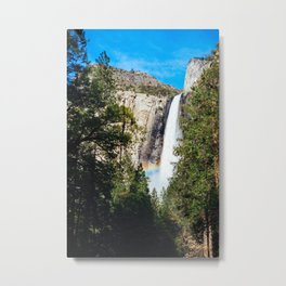 Rainbow Beneath Bridal Veil Falls Metal Print
