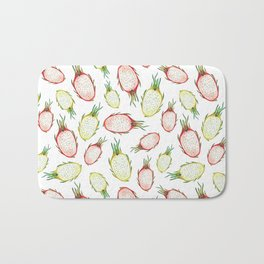 Pitaya. Watercolor Bath Mat
