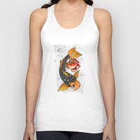 koi Tank Tops featuring Koi by Tuky Waingan