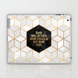 She believed she could so she did 2 Laptop & iPad Skin