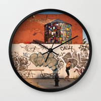 brooklyn Wall Clocks featuring Brooklyn by Phil Provencio