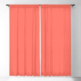 Solid Color Pantone Color of the Year Living Coral 16-1546 Blackout Curtain