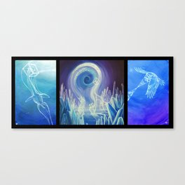 Tesseractic Triptych Canvas Print