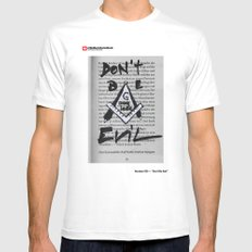 #20 - Don't be Evil MEDIUM White Mens Fitted Tee