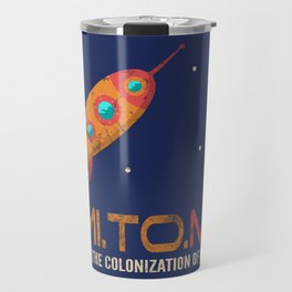 Vintage Rocket - Mission to Mars Travel Mug