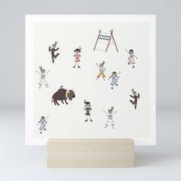 Ten Little Indians Mini Art Print