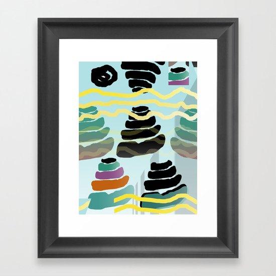 Shit Pyramids Framed Art Print