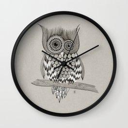 Rupert Owl Wall Clock