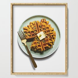 Pumpkin Waffles Serving Tray