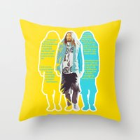 jared leto Throw Pillows featuring Jared Leto and his wisdom  by Olga Panteleyeva