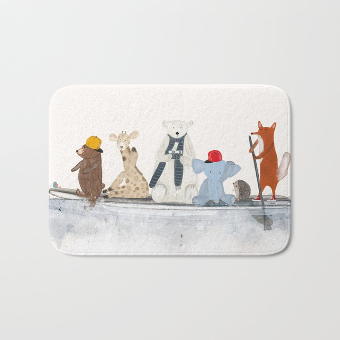 little big surfboard Bath Mat
