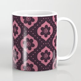 Cranberry Moroccan floral with dots Coffee Mug