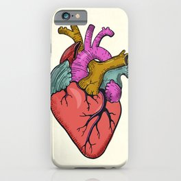 FOLLOW YOUR HEART - tatoo artwork iPhone Case