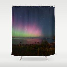 Pink Aurora at Old Garden Beach Shower Curtain