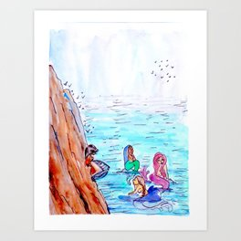 An Afternoon with Mermaids Art Print
