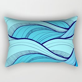 Lines in the waves Rectangular Pillow
