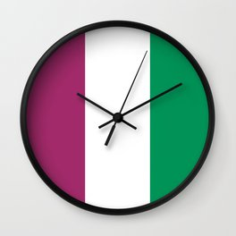 Flag of the suffragettes Wall Clock