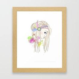 Blonde Indian Girl Framed Art Print