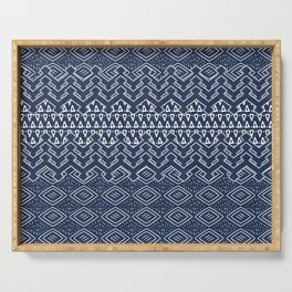 Akra in Navy Blue Serving Tray