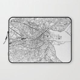 Dublin White Map Laptop Sleeve