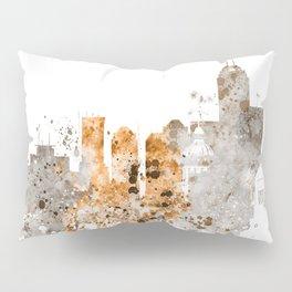 Indianapolis Warm Color Skyline Pillow Sham