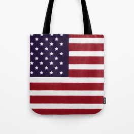 American flag with painterly treatment Tote Bag