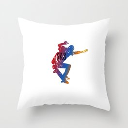 Awesome & Cool Skating and Skateboarding Throw Pillow