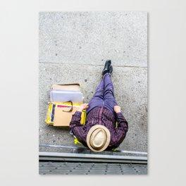 Purple Pants Canvas Print