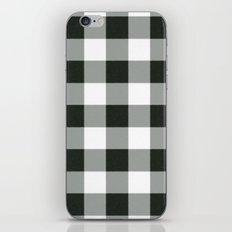 Buffalo Check in black iPhone & iPod Skin