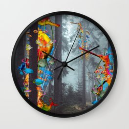Forest of Sea Creatues Wall Clock