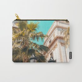 Royal Square Barcelona, City Travel Print, Placa Reial Barcelona, Urban Architecture Travel Print, Palm Tree Barcelona Carry-All Pouch