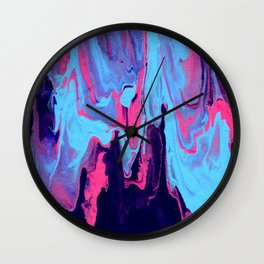 Paint Pouring 25 Wall Clock