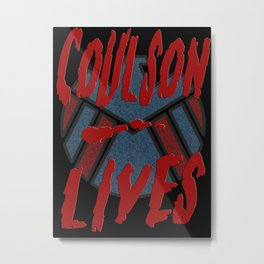 Coulson Lives - Badge Metal Print