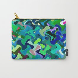 Deep underwater, abstract nautical print in blue shades Carry-All Pouch