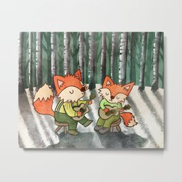 Fox Duo Metal Print