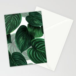 tropical green pattern Stationery Cards