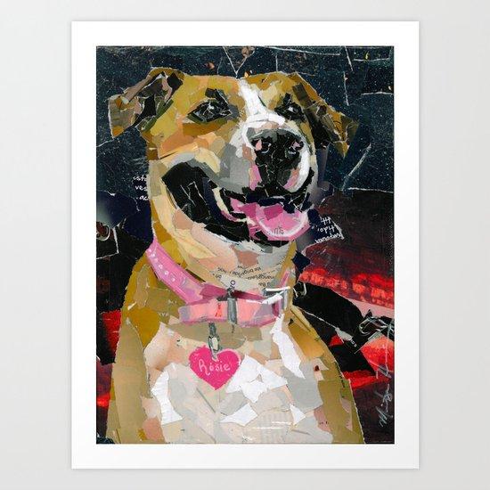 Rosie the Pittie Art Print