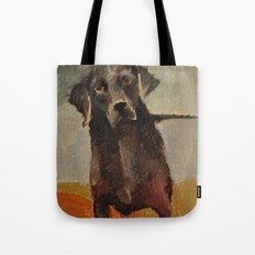 Funny Black Lab Tote Bag
